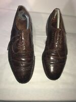 Church's Mens Brown Brogue Leather Shoes 7.5/8.5 Ref ba14