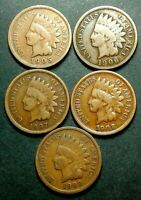 1905, 1906, 1907, 1908 & 1909 INDIAN HEAD CENTS NICE LOT