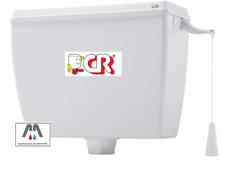 CASSETTA ALTA ESTERNA X WC IN PLASTICA ALFA CON COPERCHIO  C.R. 9 LITRI