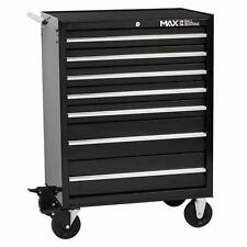 Professional 7 Drawer Rollaway Garage Tools Cabinet Trolley Black