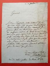 Jean-Baptiste ISABEY - Lettre autographe signée au futur maréchal LANNES