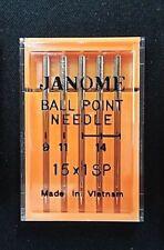 "Genuine Janome Needle ""Ball Point"" Mixed Sizes 5/Pack"