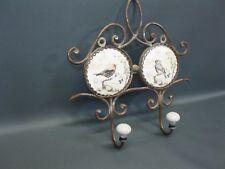 BARRE avec crochets vestiaire métal 28 cm de Garderobe couloir OISEAUX motif