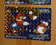 SUPER MARIO WORLD BANPRESTO CARDDASS CARD PRISM CARTE 8 NITENDO JAPAN 1993 **