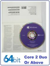 New Microsoft Windows 10 Pro Professional 64Bit DVD Disk & COA Builder Pack