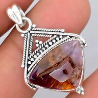 Artisan - Cacoxenite Super Seven 7 Mineral 925 Silver Pendant Jewelry 5998
