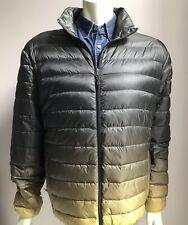 Hawke Co. Jacket, Lightweight Puffer, Large, Olive / Gold Ombre, NWOT