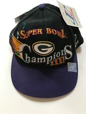 Vintage Green Bay Packers Super Bowl XXXI 31 Champion Snapback Hat Original Tags
