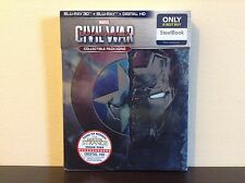 Marvel's Captain America: Civil War (SteelBook) (3D Blu-ray + Blu-ray) BRAND NEW