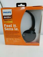 Philips Extra BASS+ Bluetooth Wireless On-Ear Headphones with Microphone SHB3075