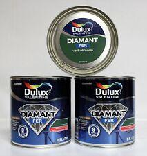 "Lot Peinture Fer DULUX VALENTINE 3 X 0,5 L "" Vert Véranda """