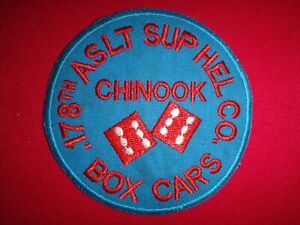 US 178th Assault Support Helicopter Company CHINOOK BOX CARS Vietnam War Patch