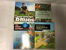 4x Grow Your Own Books Organic Gardening Fruit Expert Greenhouse Expert Drugs