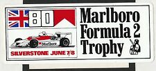 1980 marlboro formule 2 F2 trophy silverstone original course autocollant sticker
