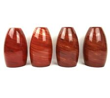 4 Portfolio Jupiter Blaze Art Cased Glass Cylinder Pendant Light Shades Red