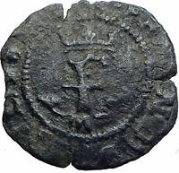 SPAIN Catholic Monarchs ISABELLA I Ferdinand V 1474AD Old Spanish Coin i80434