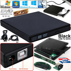 Laptop USB To SATA CD DVD Combo RW Rom External Drive Enclosure Case Cover Caddy