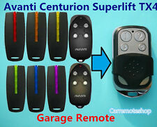 Avanti Centurion Superlift   & TX4 Garage Door Roller Remote Replacement