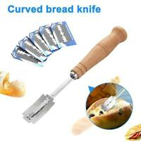 Bread Bakers Blade Lame Slashing Tool Dough Cutter Accessories with 5 Blades AU