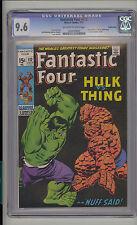 Fantastic Four #112 CGC 9.6 NM+ Unrestored Hulk vs. Thing Suscha News Pedigree