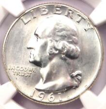 1961 Type B Reverse Variety Washington Quarter 25C - NGC MS66 - $375 Value!