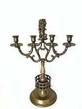 Alte antike Kandelaber Leuchter Kerzenständer  Löwe Messing um 1920