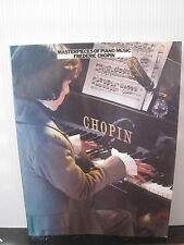 Mastepieces of Piano Music FREDERIC CHOPIN Sheet Music Book FREE UK POST