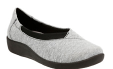 NEW CLARKS CLOUDSTEPPERS SILLIAN JETAY GRAY LOAFERS SLIP ON SHOES WOMENS 8
