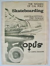 Vintage 1965 Cal Poly Campus Magazine Poster Skateboard Converse Jack Purcell