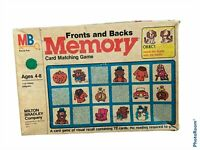 Memory Card Matching Game MB Fronts and Backs