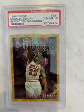 1996 Finest Gold Refractors With Coating Michael Jordan #291 PSA 10 GEM MINT