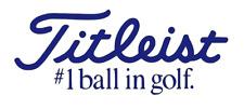 New TITLEIST #1 BALL IN GOLF Decal Sticker Car Truck Window Bumper