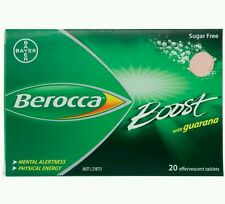 2 x Berocca Boost With Guarana 20  Effervescent Tablets - OzHealthExperts