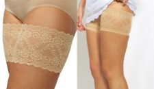 Beige C Genuine Bandelettes Anti Chafing Lace Thigh Bands