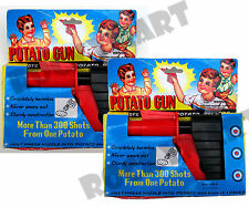 (4) FOUR Classic Potato Guns Shoots Harmless Potato Pellets Ages 3 & Up RM2076