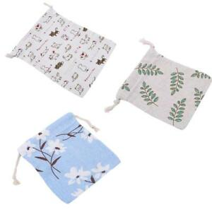 Gifts Drawstring Tote Reusable Backpacks Vintage 1 PC Linen Shoes Storage Bag YS
