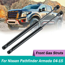 2x Front Hood Gas Lift Supports Struts Shocks For Nissan Armada Pathfinder 04-15