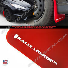 "Rally Armor UR ""Red Mud Flaps w/ White Logo"" 4pcs for 2013-2016 Ford Fiesta ST"