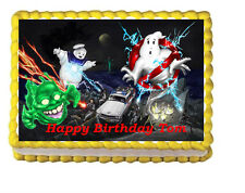 The Real Ghostbusters Edible Cake Topper Birthday Party 1/4 frosting icing sheet