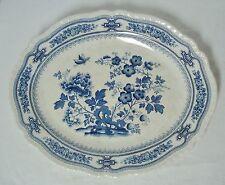 "Mason's Blue Manchu 17"" Oval Serving Platter Large Turkey Ironstone England"