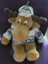 "Vintage 21"" Max Stuffed Plush Moose Toy Commonwealth Winter Ski Print Cabin"