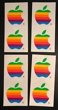 Apple - Macintosh / Mac - Rainbow Stickers - 4 Sheets - Vintage - NOS