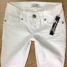 BNWT Ladies Seven 7 for All Mankind WHITE CROP SKINNY Jeans W26 L24 (630)