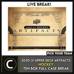 2020-21 UPPER DECK ARTIFACTS HOCKEY 10 BOX CASE BREAK #H990 - PICK YOUR TEAM