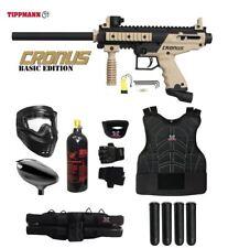 Tippmann Cronus Starter Protective Co2 Paintball Gun Package - Black / Tan