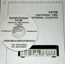HP 5370B UNIVERSAL TIME INTERVAL COUNTER  OPERATING & SERVICE MANUAL (2 VOLUMES)