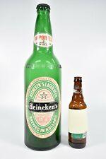 "Vintage Heineken Giant Glass 18"" Oversized Beer Bottle Coin Bank Advertising"