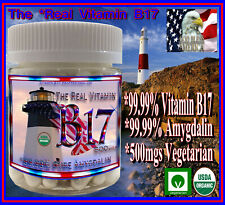 The Real Organic Vitamin B17 99.99% Pure Extracted from Apricot Kernels Seeds US
