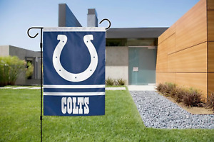 Indianapolis Colts Garden Flag 2 Sided Outdoor Window Yard Banner New