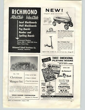 1956 PAPER AD Radio Steel Rancher Coaster Wagon Toy Play Robin Hood Board Game